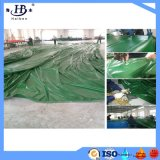 De groene Dekking van de Aanhangwagen van het Geteerde zeildoek van de Kleur pvc Met een laag bedekte