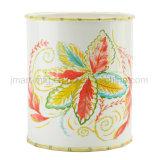 Accesorio de cerámica del cuarto de baño de la palma de la etiqueta de la pintura tropical de la mano