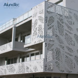 Hoja de aluminio decorativa de la fachada de los paneles de pared del panel perforado del metal