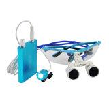 Loupe dentaire binoculaire médicale chirurgicale de dentiste facultatif bleu
