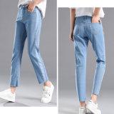 Lichtblauwe en Hoogstaande Dame Jeans met Speciaal Ontwerp (HDLJ0035-17)