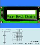 バックライトのないStnの表示Stce16203が付いているLCDのモジュール