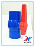 Válvula de Esfera de PVC azul com a norma ISO9001/BSPT/NORMA DIN