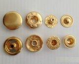 Botón cómodo Eco- del broche de presión del metal de la ropa del fabricante de China