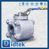 Válvula de esfera de alta pressão da flutuação do aço inoxidável CF2 de Didtek