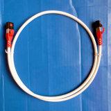 Blanc du cordon de connexion de RJ45/RJ45 CAT6 SSTP 2m