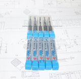 Alta precisión personalizada HRC45/55/60/65 Flauta único molino de final de carburo sólido para corte de alta velocidad se utiliza en torno CNC