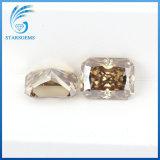 6x8mm 1.5cts corte radiante colorido Moissanite sueltos para la joyería de diamantes