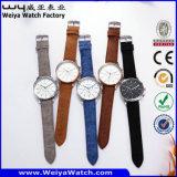Orologio casuale delle signore del quarzo della cinghia di cuoio (Wy-081A)