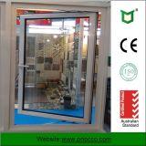 Finestra di alluminio della stoffa per tendine di prezzi di fabbrica con doppio vetro