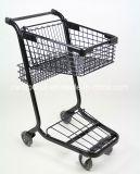 Único carro de compra da cesta; Carro de compra americano de Styly