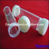 Rosca de tornillo sílice fundida tubos de cristal de cuarzo.