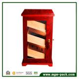 Finition rouge cave à cigares armoire avec serrure de sécurité