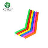 Cannuccia piegante riutilizzabile del silicone su ordinazione del commestibile