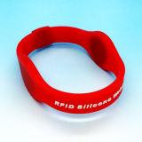 silicone de borracha impermeável MIFARE combinado 1K clássico e bracelete da freqüência ultraelevada RFID
