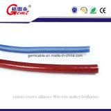 Or d'isolation de PVC de comité technique de câble flexible transparent de haut-parleur, de 2 faisceaux ou câble plat transparent argenté de haut-parleur