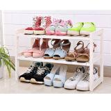 プラスチック台所ラック棚、流しの靴の記憶の靴ラック靴のキャビネットJbs-1802の下のアセンブリ棚