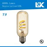 2,5 W 250lm E26 T9 nova espiral de filamento de lâmpada de luz LED retro