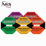 Anhaftender Stciker Schlag-Monitor-Vorsichts-Auswirkung-Kennsatz