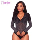 Nuevo estilo Cheap Wholesale Jules embellecido Nude Bodysuit