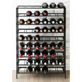 De 60-fles van de detailhandel het Rek van de Opslag van de Wijn van de Vertoning van de Fles van de Vloer van het Metaal