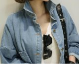 2018 New Fashion Denim Jacket Sports shirt Collar Coat