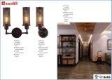 現代屋内黒い金属の装飾的な壁ランプW-3609-1