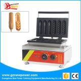 Comercial de dos formas de panecillo de maíz y de perrito caliente Waffle Maker