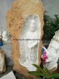 Het Lachen Boedha van de steen het Witte Marmeren Standbeeld van Boedha van de Engel voor Verkoop