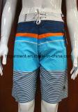 Beachwear do Swimwear de 4 calças curtas da ressaca da cópia do poliéster da maneira para homens