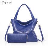 Лучше всего продавать провод фиолетового цвета кожи женщин 2PCS Wallet красочные женская сумка