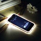 Luces LED de llamada cubierta de la caja de cable de carga USB para iPhone 5