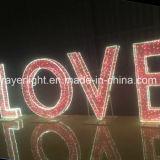 사랑 디자인 LED 결혼식 훈장 빛