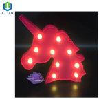 وحيد قرن [مودلينغ] ليل مصباح [لد] ضوء لأنّ زخرفة