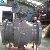 Aço fundido Wcb Wcc Lcb Corpo dividido do LCC - Caixa de velocidades Manual Operada reduziu o Orifício da Válvula de Esfera de montagem do munhão Flangeado