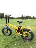 Bicicleta plegable eléctrica de la potencia del neumático 4.0 de la playa gorda de alta velocidad grande de la nieve