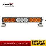 """17 """"こはく色LEDのドライビング・ライトの点の洪水4X4オフロード棒"""