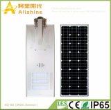 60W vendite superiori LED tutto in un indicatore luminoso di via solare
