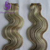Piano Color Blond Color Body Wavy Remy Hair Weft (HW56)