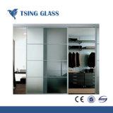 Effacer/ultra/couleur clair le verre trempé avec bords polis/trous pour porte de douche