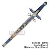 ヨーロッパの短剣のヨーロッパの騎士短剣の歴史的短剣フィルムおよびテレビの短剣40cm HK8394