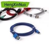나일론 끈목 케이블, Apple iPhone USB 충전기 케이블 철사를 위한 USB
