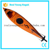 Bateau de pêche de kayak de pêche maritime de canoë de célibataire de relais 4.8m