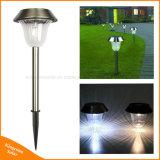 LED solaire extérieur en acier inoxydable jeu pelouse lumière