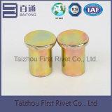 8X12mm 노란 아연 색깔 편평한 맨 위 단단한 강철 리베트