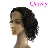 Quercyの毛のブラジルのバージンの毛の不足分の人間の毛髪のかつらのバージンの人間の毛髪のかつらの自然なカラーもつれ無し取除くこと(HW-078)