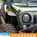 linterna alta-baja de la viga LED de 7inch 105W para el jeep