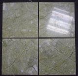ホーム装飾のための自然な石造りの平板のMing楽にされるか、または積層または丸みがあるVerdeの緑の大理石のタイル