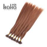Hoogste Kwaliteit Haar van de Keratine van het Uiteinde van U van de Kleur van 22 Duim het Bruine Natuurlijke
