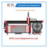 De múltiples funciones de la cortadora del laser de la fibra para el corte de Pipe&Sheet